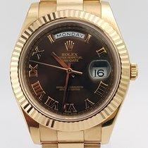 Rolex Day-Date II President 18K Rose Gold - Fluted Bezel