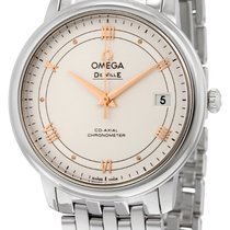 Omega De Ville Prestige Silver Dial Stainless Steel Automatic...