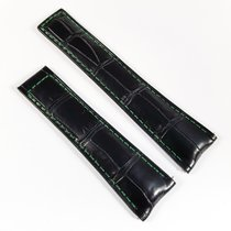 TAG Heuer Carrera Alligator leather strap 22mm black green...