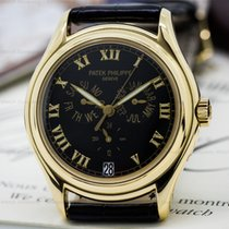 Patek Philippe Annual Calendar Black Dial 18K Yellow Gold