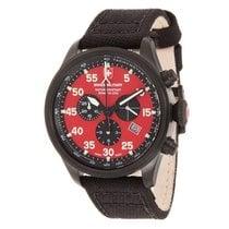 Swiss Military Watch Hawk Nero Rawhide Chronograph 27341