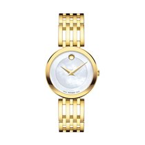 Movado Esperanza Mother Of Pearl Dial Gold Tone Ladies Watch...