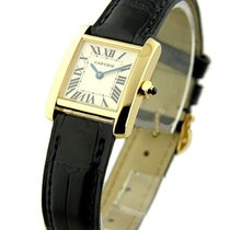 Cartier W5000256 Small Size Tank Francaise - Yellow Gold on...
