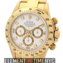 Rolex Daytona 18k Yellow Gold Zenith Movement Diamond Dial T...