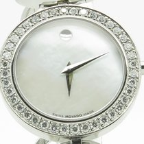 Movado Ono Mother Of Pearl Diamond Ladies Steel Bracelet...