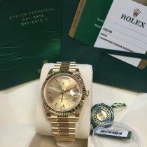 Rolex Cally - Day-Date 40mm 228238 Champagn Roman 香檳金馬字
