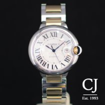 Cartier Ballon Bleu Steel & Yellow Gold 42mm Gents