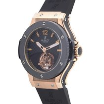 Hublot Tourbillon Solo Bang Black Carbon Fiber Dial 18kt Rose...
