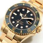 Rolex 18K YG Ceramic Submariner Factory Diamond Dial Box &...