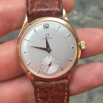 Omega oro rosa rose gold cal.28 33 mm vintage