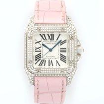 Cartier White Gold Santos 100 Diamond Ref. WM501751