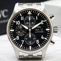 IWC IW377710 Pilot Chronograph SS Black Dial / Bracelet UNWORN...