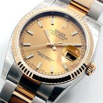 Rolex 36mm TT Datejust Champagne Dial Oyster Band - UNWORN 116233