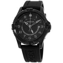 Wenger Men's 77074 Squadron Gmt All-black Rubber Strap Watch