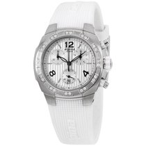 Alpina Avalanche White Dial Silicone Strap Ladies Watch...