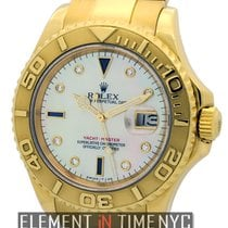 Rolex Yacht-Master 40mm 18k Yellow Gold Mother Of Pearl Serti...