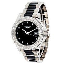 Longines Conquest Steel, Ceramic, & Diamond Quartz Watch...