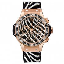 Hublot [NEW] Big Bang Zebra Diamond Rose Gold Chronograph Ladies
