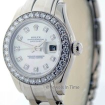 Rolex Ladies Pearlmaster Watch 18K Gold and Diamonds Box/Paper...