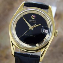 Rado Travel Time Rare Swiss Made 1960s Mens Automatic Gold...