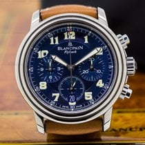 Blancpain 2185F-1540-53 Leman Flyback Chronograph Blue Dial...