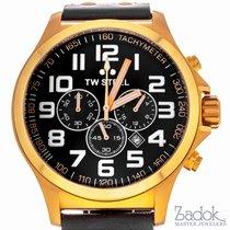 TW Steel Pilot Rose Gold Chronograph 45mm Men's Quartz Watch...