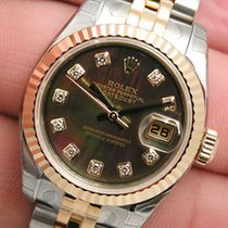 Rolex Datejust Black Mother Of Pearl Diamond 179173