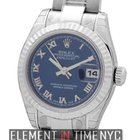 Rolex Datejust Ladies 26mm Stainless Steel Blue Roman Dial...