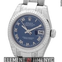 Rolex Datejust Ladies 26mm Stainless Steel Blue Roman Dial...