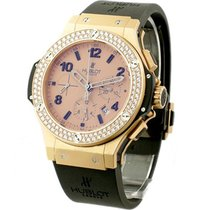 Hublot Rose Gold Mat Big Bang 2 Row Diamond Bezel
