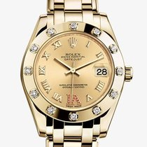 Rolex [NEW] Pearlmaster 34mm Yellow Gold 81318 (Retail:HK$273,...