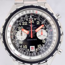 Breitling Cosmonaute Chrono-Matic 24H Dial Stahlband Spiegelei...