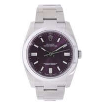 Rolex Oyster Perpetual No-Date 36mm Red Grape Dial 2016