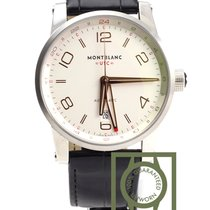 Montblanc Timewalker Voyageur UTC silver dial 42mm crocodile...