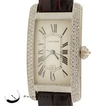 Cartier Tank Americaine Midsize 2490 18k White Gold Automatic...