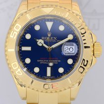 Rolex Yachtmaster Gold 40mm blue Dial Full Set Luxusuhr 18K...