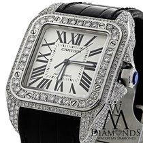 Cartier Luxury Diamond Cartier Santos 100 Automatic Watch...