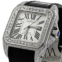 Cartier Luxury Diamond Cartier Santos 100 Automatic Watch...
