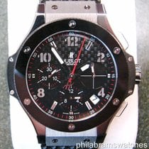 Hublot Big Bang Chronograph Carbon Fiber Dial Steel and...