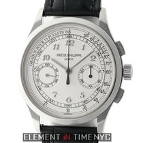 Patek Philippe Complications 18k White Gold Pulsations Silver...