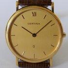 Certina Klassische flache Herrenuhr in Gold 750