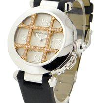 Cartier Pasha 32mm White Gold with Rose Gold Diamond Grid