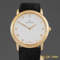 Blancpain Villeret 18K GOLD 34mm  Automatic Ultra Slim Display...