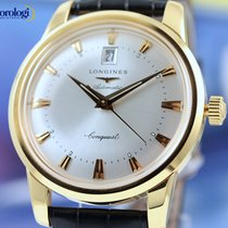 Longines Men's Conquest Heritage Yellow Gold on Leather...