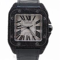 Cartier Santos 100 XL Aftermarket Black Diamonds