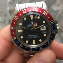 Rolex Gmt Pepsi coke plexy pallettoni patina matt dial