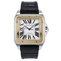 Cartier Santos 100 W20072x7 Large Size Stainless Steel W/18k...