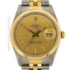 Rolex stainless steel and 18k yellow gold gent's Date