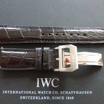 IWC deployment buckle with 20mm black crocodile strap