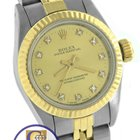 Rolex Oyster Perpetual Diamond 24mm 67193 Two-Tone Gold Jubilee